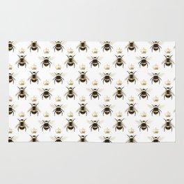Gold Queen bee / girl power bumble bee pattern Rug
