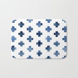 Crosses Scandinavian Pattern Bath Mat