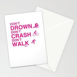 Triathlon Marathon Sport saying gift Stationery Cards