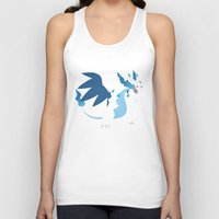 charizard Tank Tops featuring Mega Charizard X PKMN by Rebekhaart