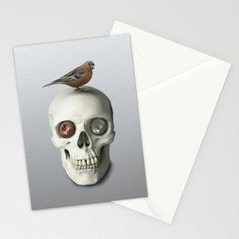 Skull & bird, watercolor Stationery Cards