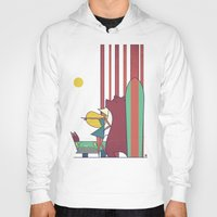 surf Hoodies featuring SURF by Ale Giorgini