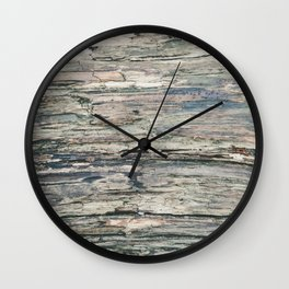 Old Rotten Wood Wall Clock
