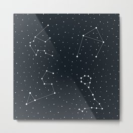 Zodiac Sign Pattern Metal Print