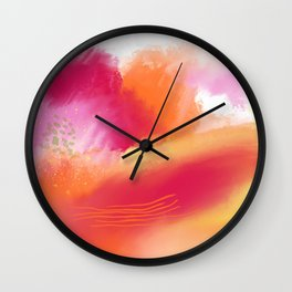 Summer Love 4 - colorful abstract Wall Clock