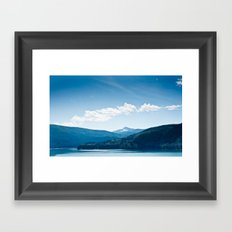 Peace is the color blue. Framed Art Print