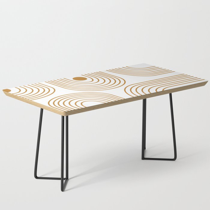 Lines and Circles in Goldenrod Coffee Table