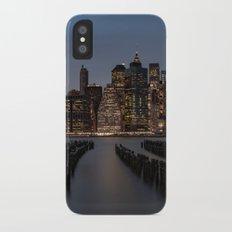 Manhattan New York at Night iPhone X Slim Case