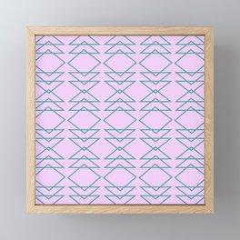 Fun Geometric Line and Shape Pattern in Lavender Framed Mini Art Print