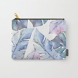 Watercolor Tropical Leaves IV Carry-All Pouch