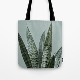 Snake plant in green Tote Bag