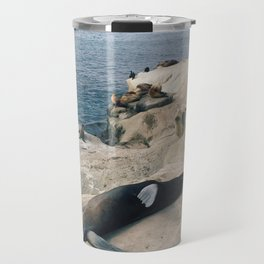 Sun Bathing Seal Travel Mug