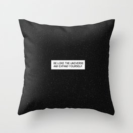 """Comic Book Panel: """"Be like the Universe and expand yourself"""" Throw Pillow"""