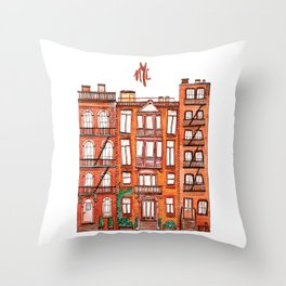 NYC - Watercolor Throw Pillow
