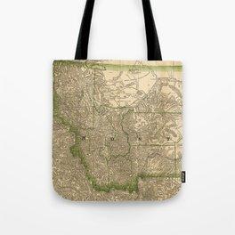 Vintage Map of Montana (1881) Tote Bag