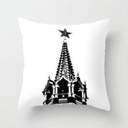 Kremlin Chimes-b&w Throw Pillow