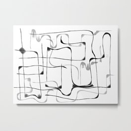 Follow the Line II Metal Print