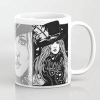 stevie nicks Mugs featuring Blacklights Stevie by Lynette K.