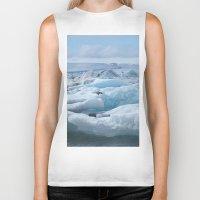 iceland Biker Tanks featuring Jökulsarlon Iceland by seraphina
