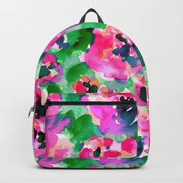 Abstract Flora Green Backpack