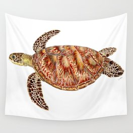 Green turtle Chelonia mydas Wall Tapestry