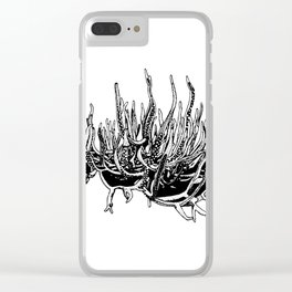 Bleached Coral Clear iPhone Case