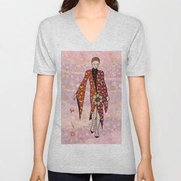 AUTUMN FAIRY - fashion illustration Unisex V-Neck