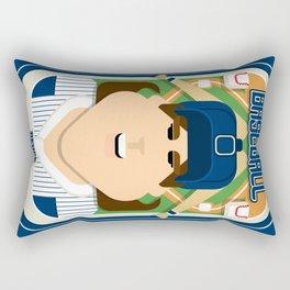 Baseball Blue Pinstripes - Deuce Crackerjack - June version Rectangular Pillow