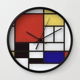 Piet Mondrian Wall Clock