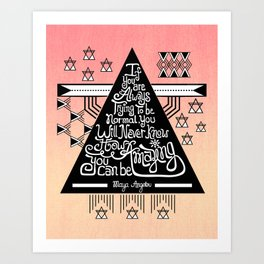 Be amazing Art Print