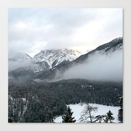 Grey layers Canvas Print