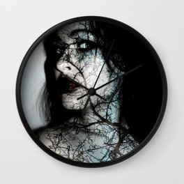 Forest Ghosts Wall Clock