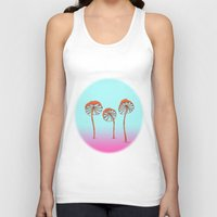 mushrooms Tank Tops featuring mushrooms by terastar