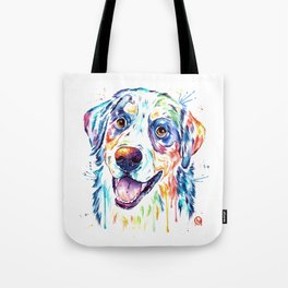 Bernese Mountain Dog Watercolor Painting Tote Bag
