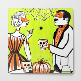 The Swankiest Halloween Party Metal Print