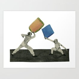 Pillow Fighters Art Print