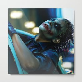 Joker Heath Ledger Metal Print