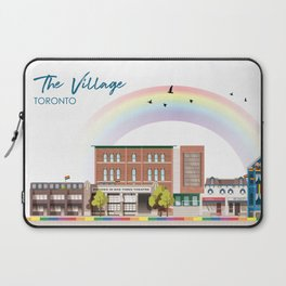 The Village - Toronto Neighbourhood Laptop Sleeve