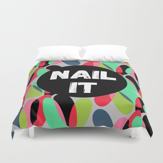 Nail It Duvet Cover
