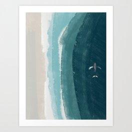 American Coast with whale Art Print