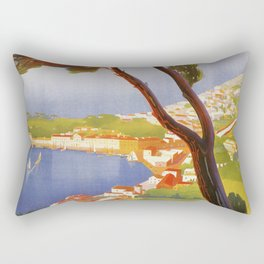 Ischia Island Italy summer travel ad Rectangular Pillow