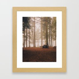 Spooky Campsite Framed Art Print