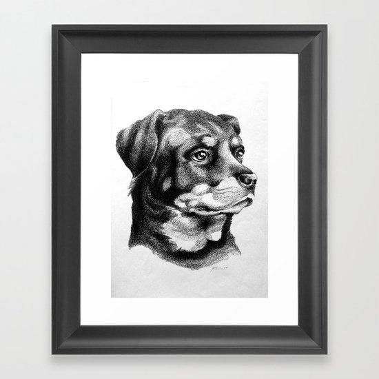 Rottweiler Devotion Framed Art Print