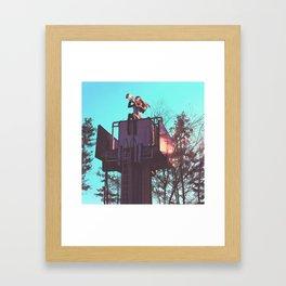 Trumpet Tower Framed Art Print