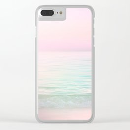 Dreamy Pastel Seascape #buyart #pastelvibes #Society6 Clear iPhone Case