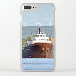 Lee Tregurtha Freighter Clear iPhone Case