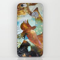 """flora bowley iPhone & iPod Skins featuring """"Two Hearts"""" Original Painting by Flora Bowley by Flora Bowley"""
