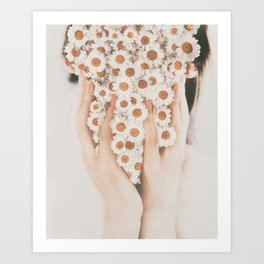 Face Of Daisies by Omerika Art Print