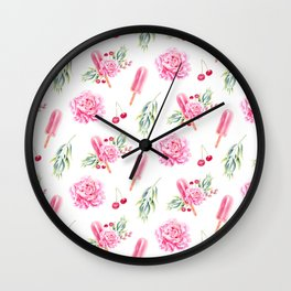 Tropical Chill Rose Wall Clock