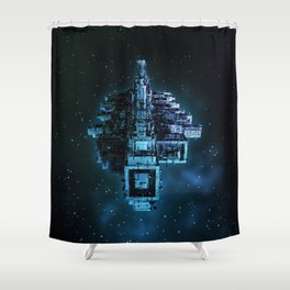 Leviathan BLUE / Keep on trucking Shower Curtain